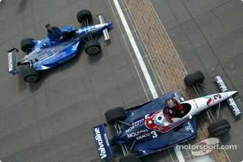 Al Unser Jr. and Scott Goodyear who were involved in the closest finish ever at the Indy 500 in 2002