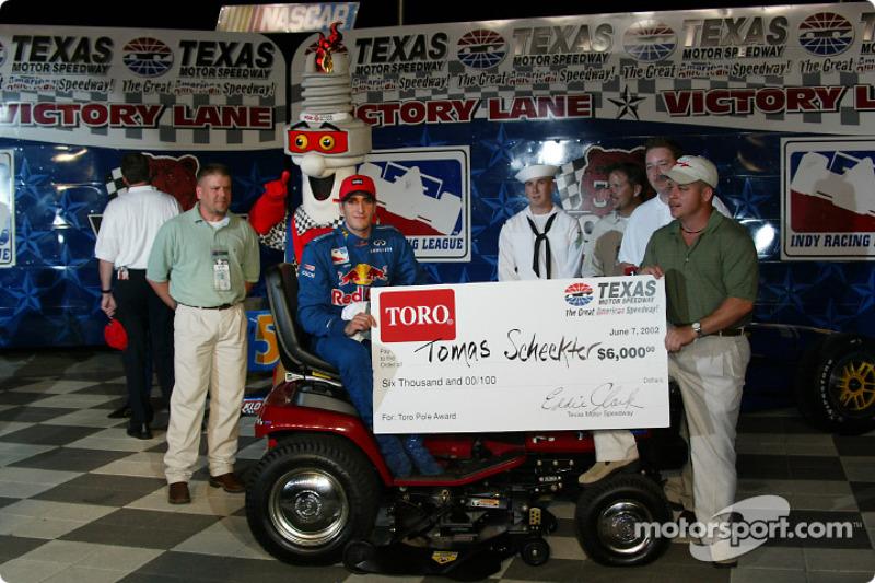Pole winner Tomas Scheckter