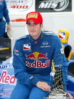 Race winner Tomas Scheckter