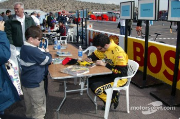 Autograph session for Sam Hornish Jr.