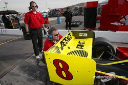 Working on Scott Sharp's car