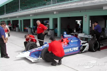 Technical inspection for Andretti Green Racing