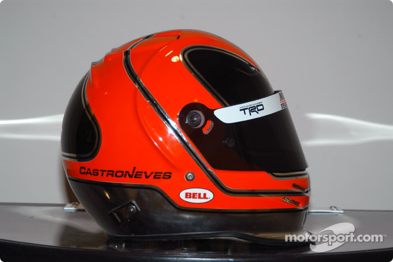 Helio Castroneves' helmet at Indy 500