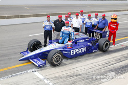 Shigeaki Hattori with A.J. Foyt and the Foyt Enterprises team
