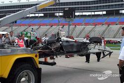 Airton Daré's wrecked car