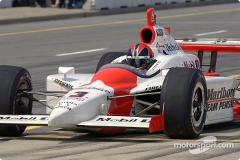 Helio Castroneves on pitlane