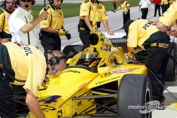 Sam Hornish Jr. on pitlane
