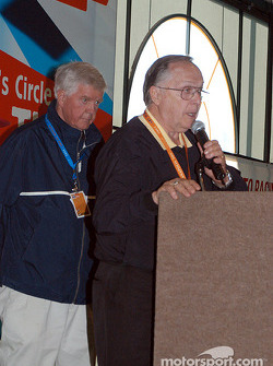 American Auto Racing Writer and Broadcasters Association, Annual Indianapolis 500 Breakfast and Journalism Awards: Dick Mittman and Bill Marvel receive the Angelo Angelopolous Award