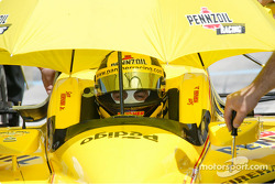 Sam Hornish Jr, driver of the #4 Pennzoil Panther Racing car