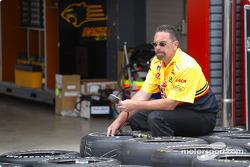 Panther Racing crew member