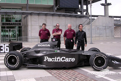 Newman/Haas announcement: Mark Shamberger, Tim Wardrop, Jim McGee, Bruno Junqueira