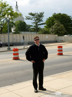 Indianapolis 500 - Washington D.C. visit: Robbie Buhl with the U.S. Capitol in the background