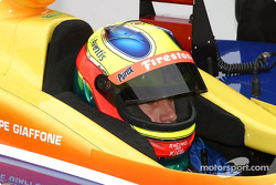 Felipe Giaffone prepares to qualify