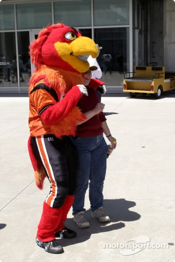 Spike, mascot for arena football's Indiana Firebirds