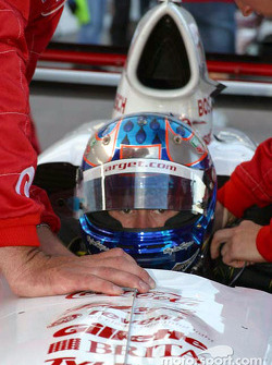 Scott Dixon is strapped in before the race