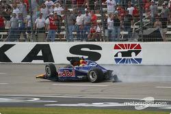 Alex Barron hits the wall