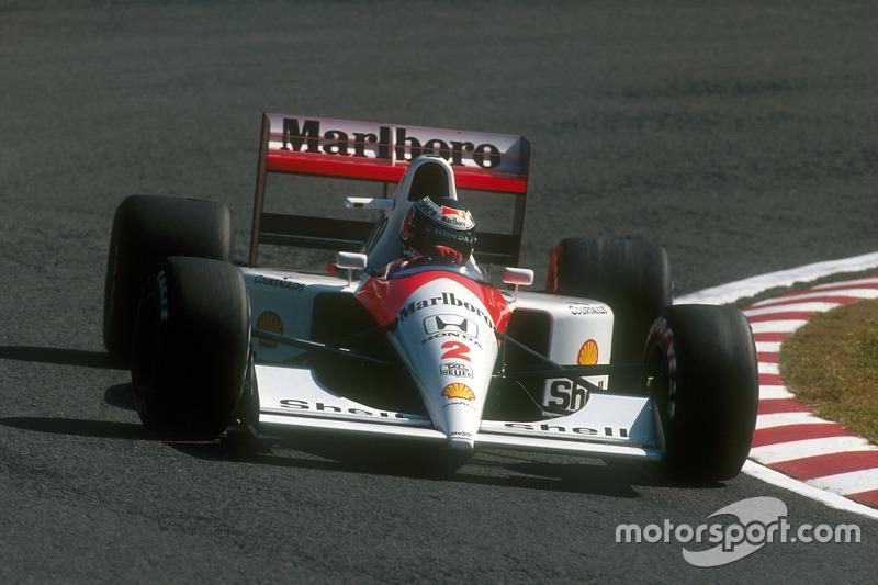 Berger verliert die Führung an Senna, gewinnt aber trotzdem, weil Senna ...