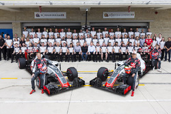 The entire Haas F1 Team poses for a photo prior to the United States Grand Prix