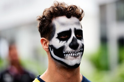 Daniel Ricciardo, Red Bull Racing with Halloween themed face paint