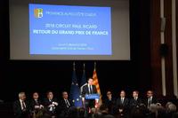 Formule 1 Photos - Christian Estrosi, Président de la Région Provence-Alpes-Côte d'Azur s'exprime