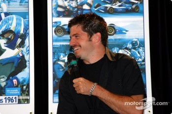 Team Player's press conference on Tuesday: Patrick Carpentier making another joke