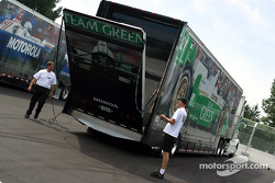 Team Kool Green transporters