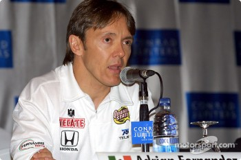 Press conference: Adrian Fernandez
