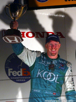 The podium: Paul Tracy