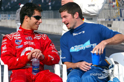 Pole winner Bruno Junqueira with Patrick Carpentier