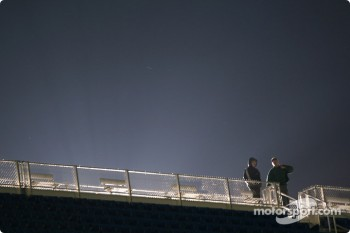 Light over grandstands