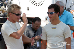 Mika Salo and Bruno Junqueira