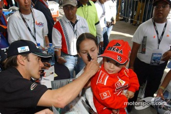 Autograph session for Adrian Fernandez
