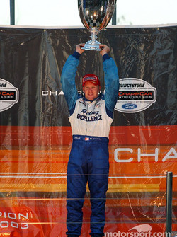 Podium: 2003 Champ Car champion Paul Tracy