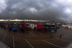 A massive cloud formation over Daytona International Speedway