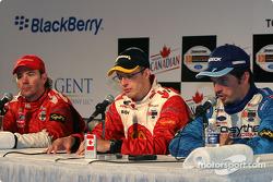 Press conference: race winner Sébastien Bourdais with Jimmy Vasser and Patrick Carpentier