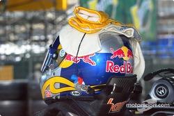 A.J. Allmendinger's helmet