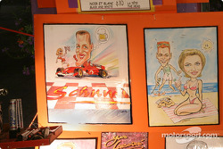 Montréal nightlights: even Michael Schumacher has been a victim of one of the many cartoonists in Old Montréal