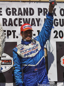Podium: race winner Patrick Carpentier