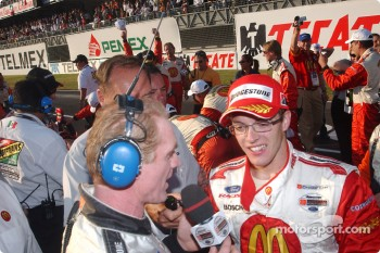 Race winner and 2004 Champ Car World Series champion Sbastien Bourdais celebrates