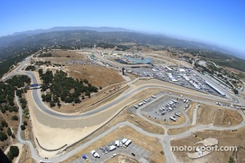 Helicopter view of Laguna Seca