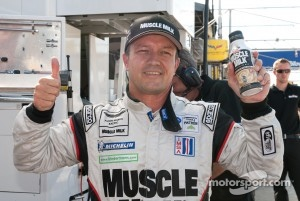 Klaus Graf celebrates pole