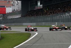 Lewis Hamilton, McLaren Mercedes, Felipe Massa, Scuderia Ferrari, Fernando Alonso, Scuderia Ferrari and Mark Webber, Red Bull Racing