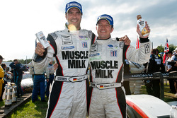 Lucas Luhr and Klaus Graf celebrate victory