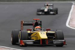 Romain Grosjean leads Jules Bianchi