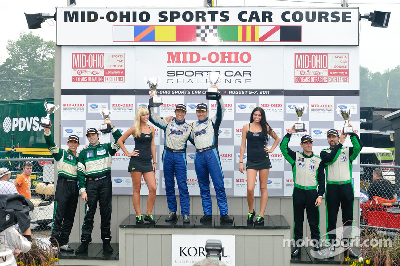 LMGTC podium: class winners Duncan Ende and Spencer Pumpelly