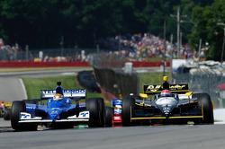 Oriol Servia, Newman/Haas Racing, Simon Pagenaud, Dreyer & Reinbold Racing