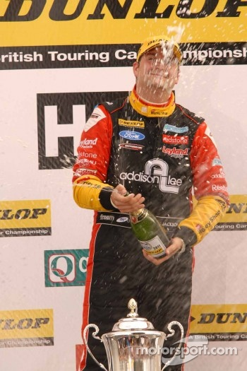 Mat Jackson, Airwaves Racing sprays Champagne