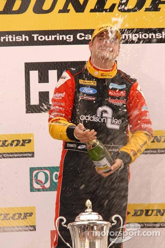 Mat Jackson, Airwaves Racing sprays Champagne