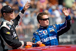 Brian Scott, Joe Gibbs Racing Toyota and Ricky Stenhouse Jr., Roush-Fenway Ford