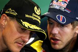 Press conference: Michael Schumacher, Mercedes GP and Sebastian Vettel, Red Bull Racing